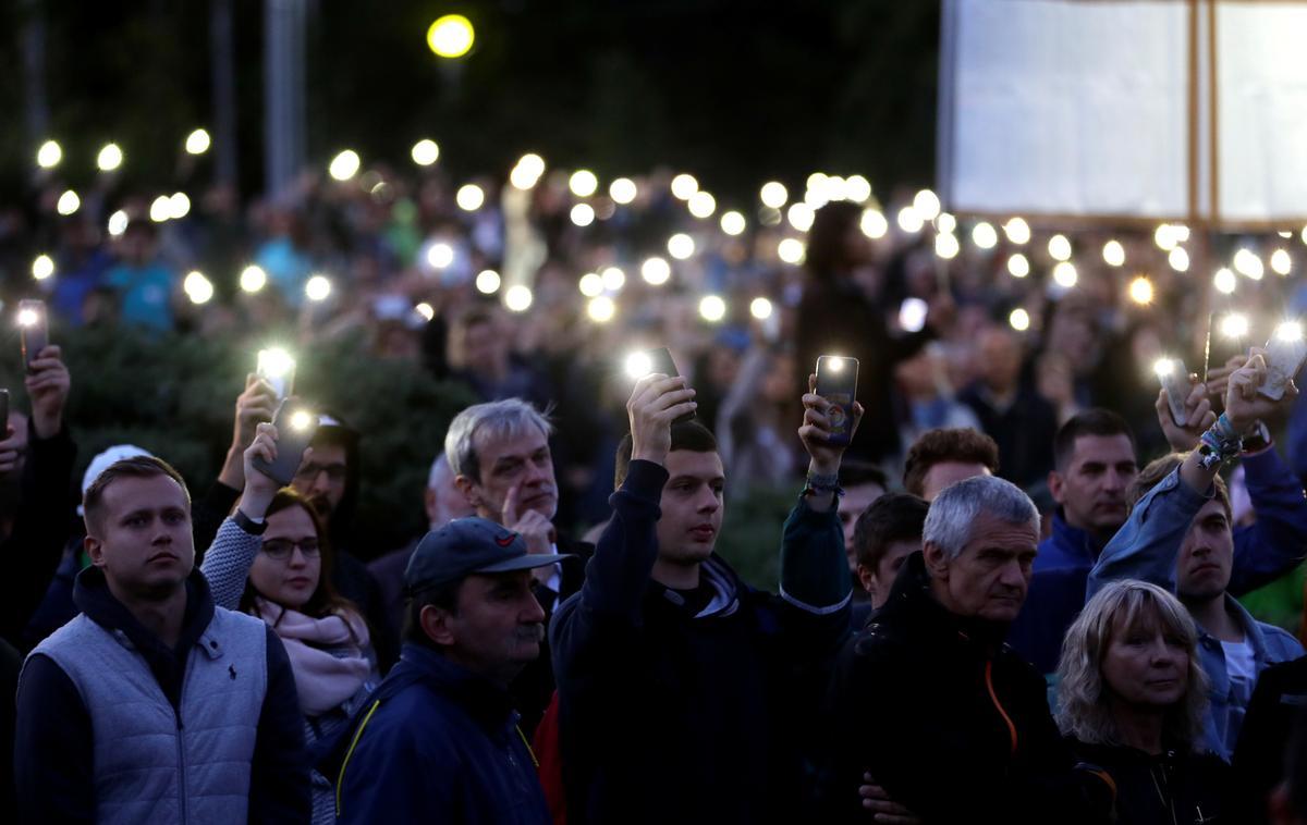 Straat-betogings in Slowakye keer terug na ondersoek na die vermoorde joernalis