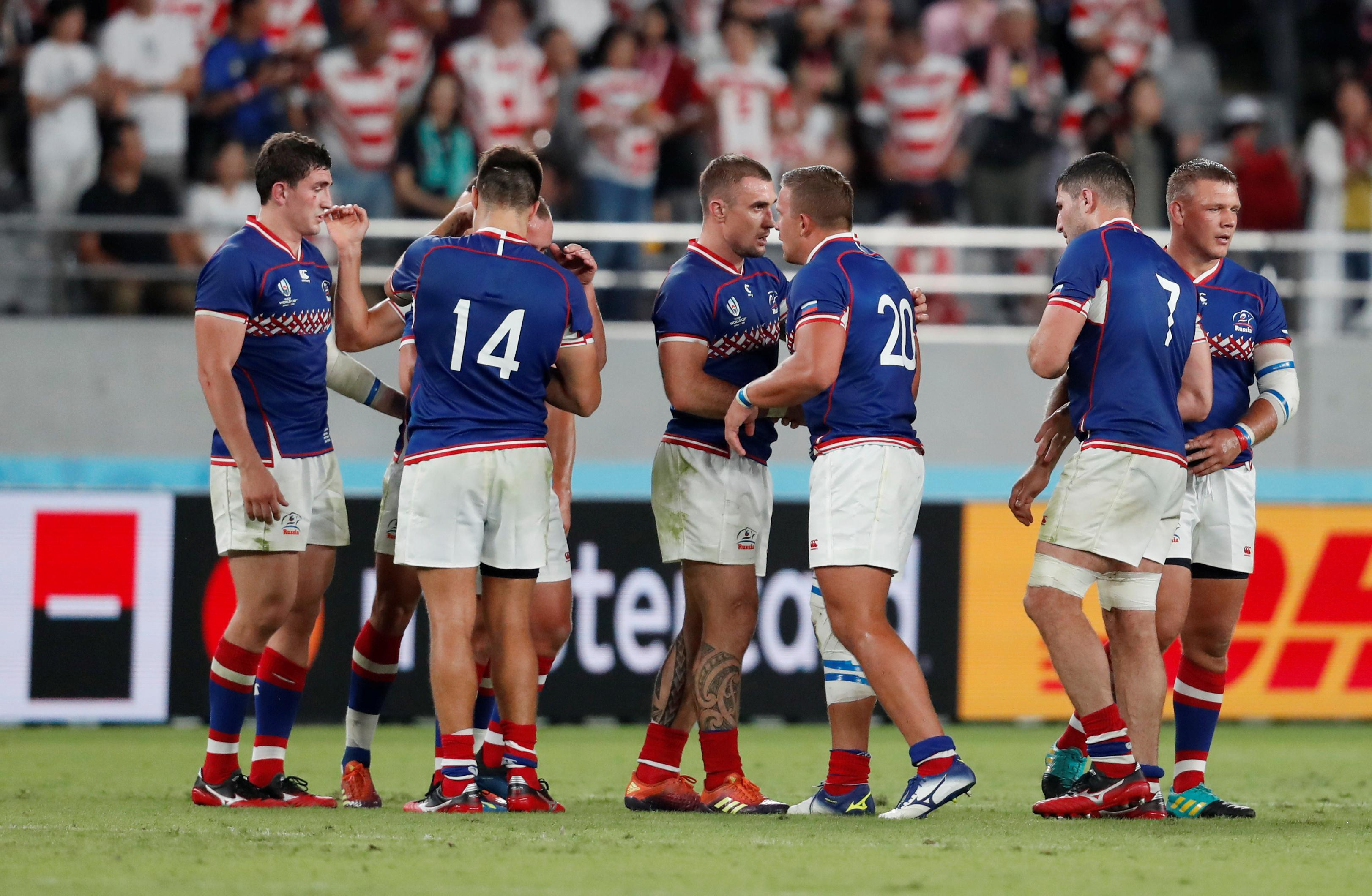 Factbox: Rugby-World Cup-Russia v Samoa