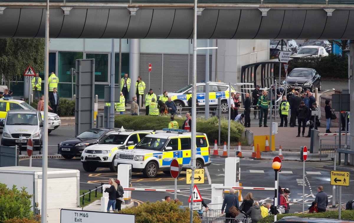 Suspect package at UK's Manchester Airport not viable device: police