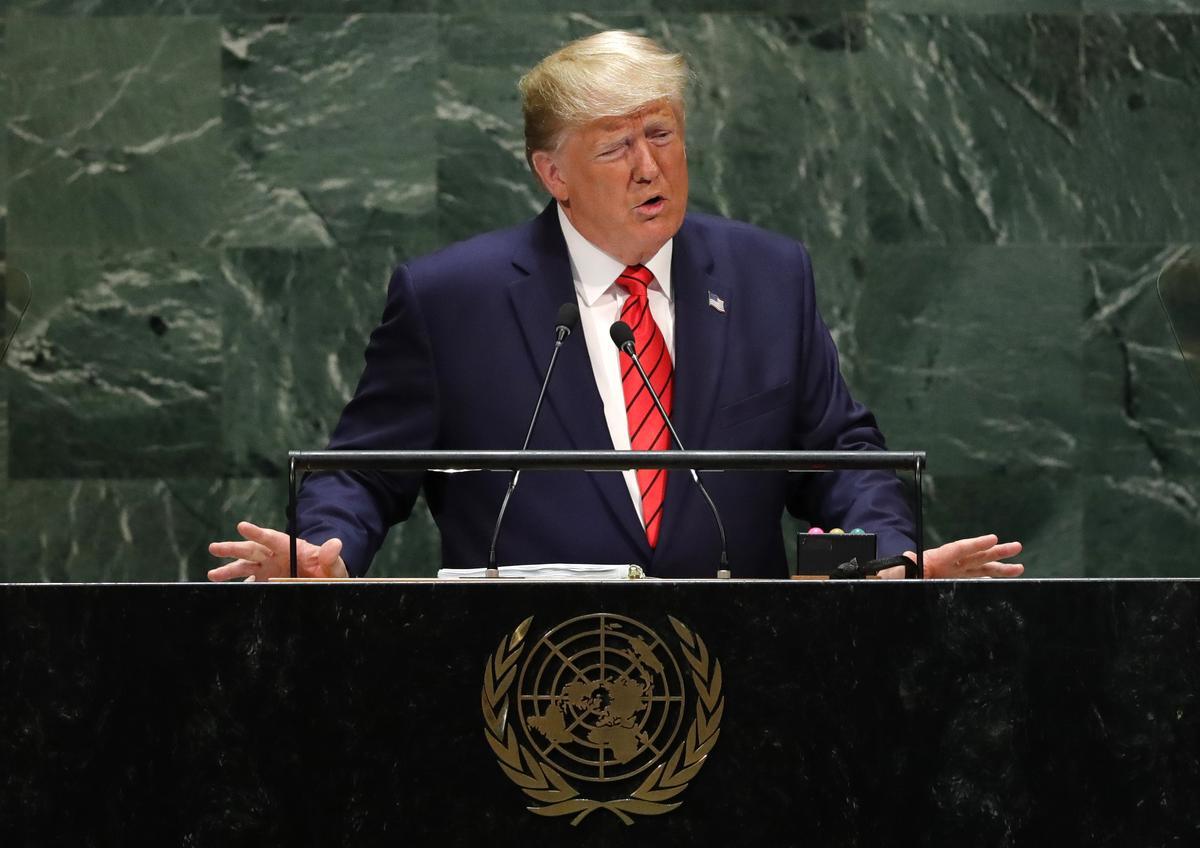 Trump's China trade rhetoric turns harsh at U.N., says won't take 'bad deal'