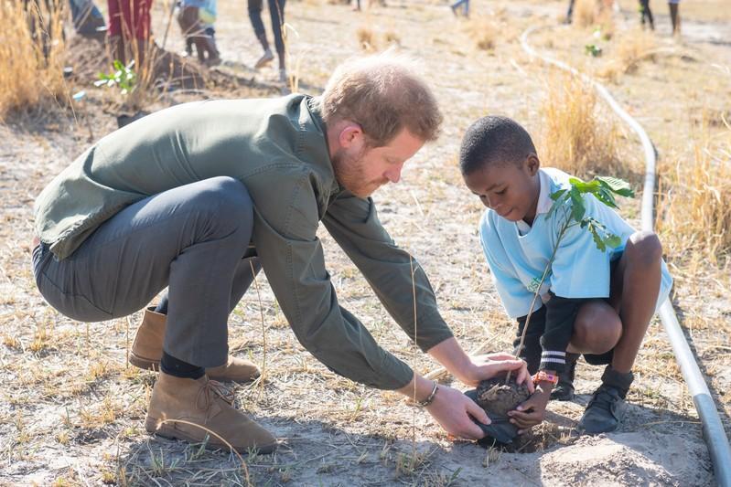 Die Britse prins Harry sê 'wedloop teen tyd' oor klimaatsverandering