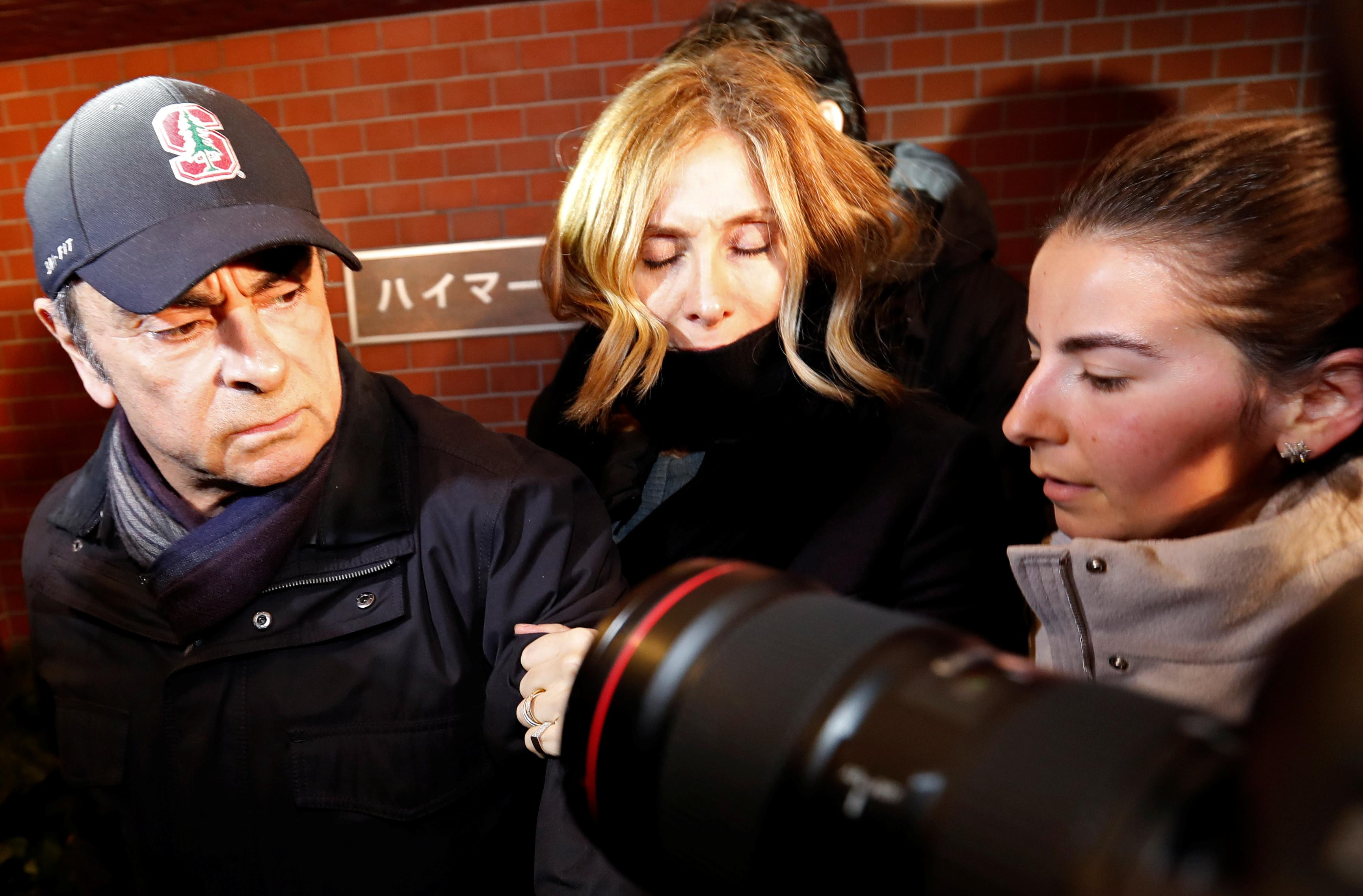 Former Nissan boss Ghosn's wife says he may not get fair trial in...