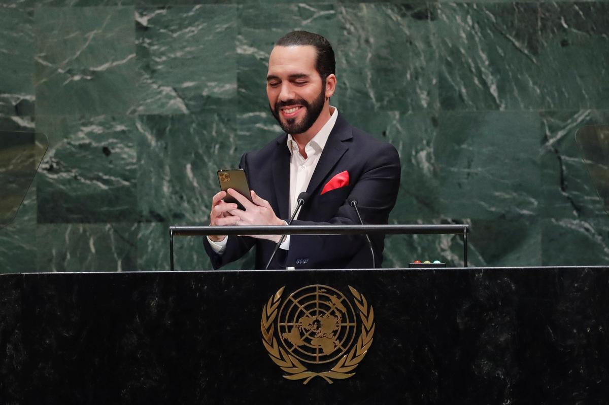 'Net 'n sekonde, asseblief': El Salvador-president se toespraak op die self-verduistering van die VN van El Salvador