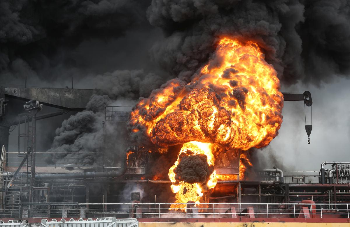 Fire on oil tankers at South Korean port injures nine: Yonhap