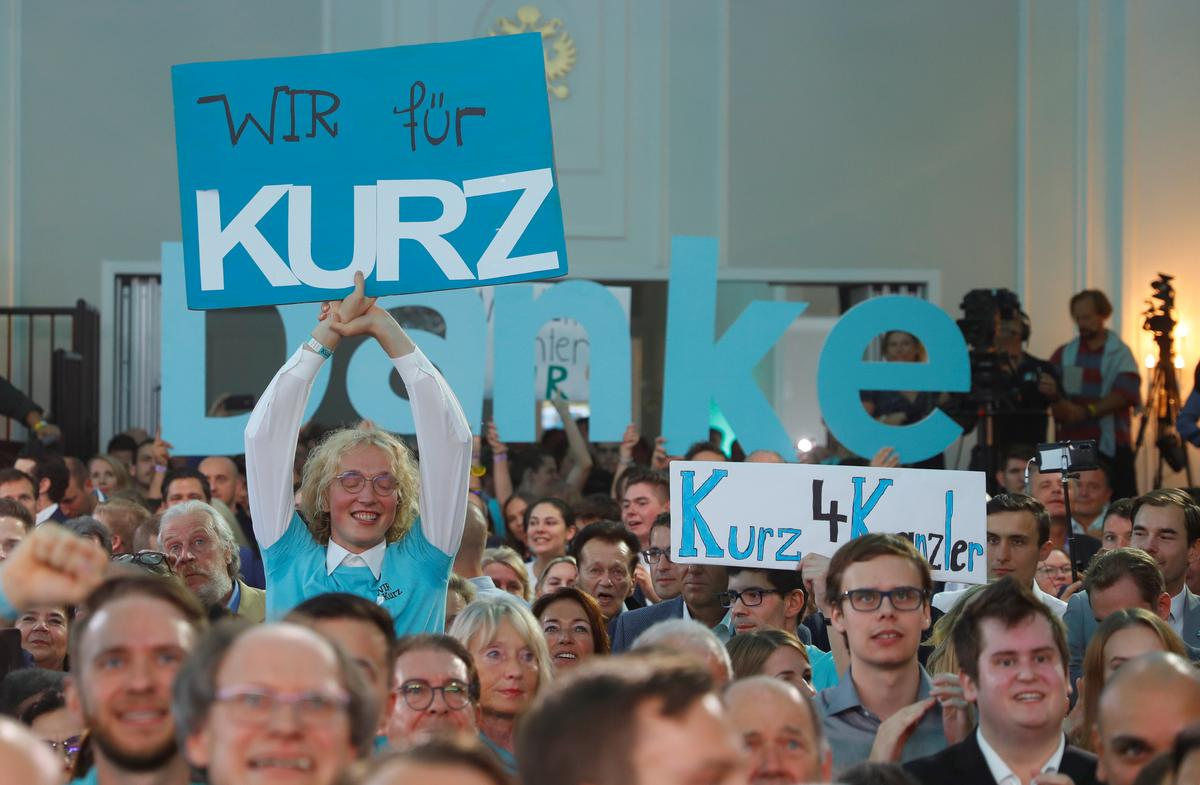 Election triumph leaves Austria's Kurz with coalition options