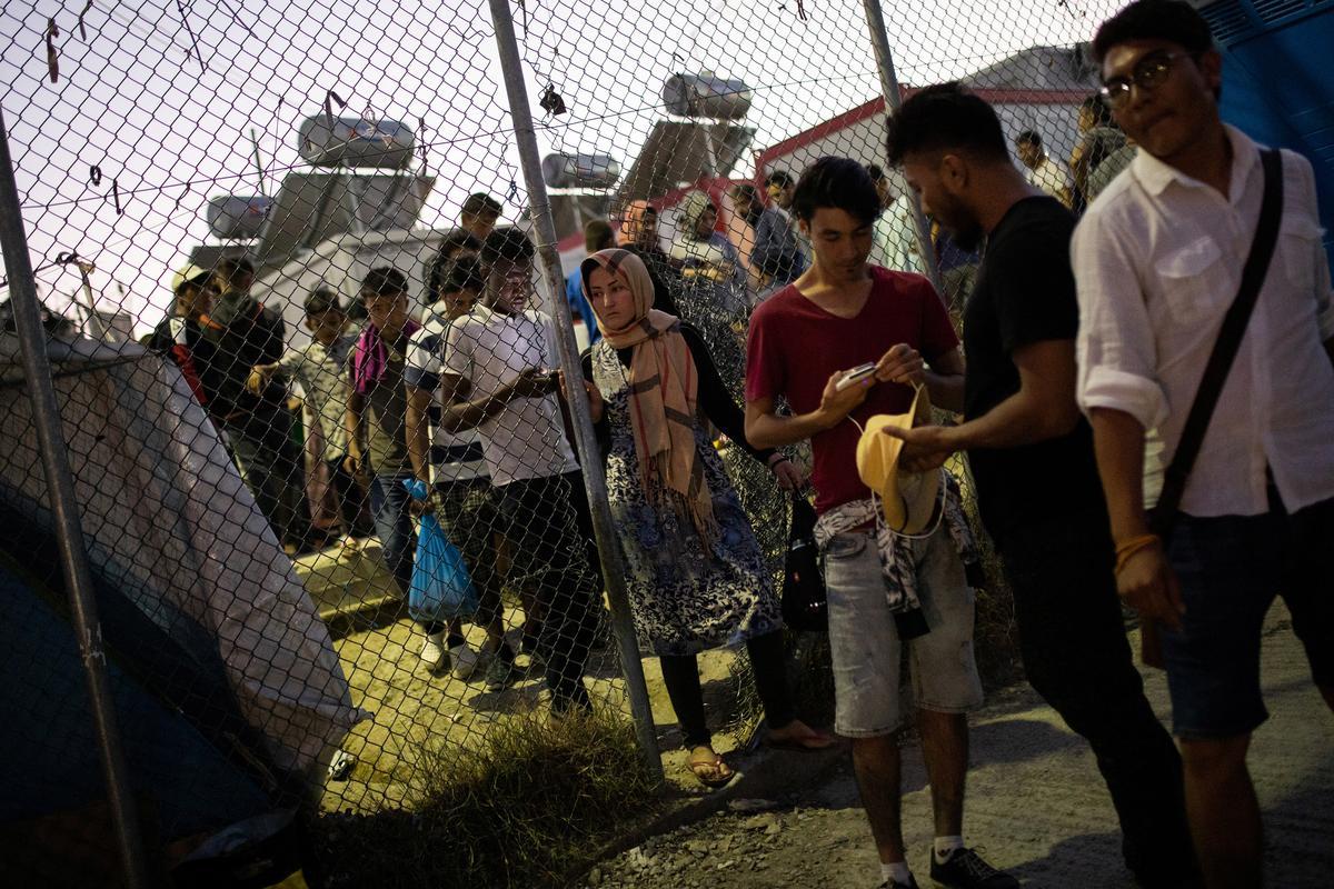 Na dodelike brand beplan Griekeland die migrasie van die migrasie