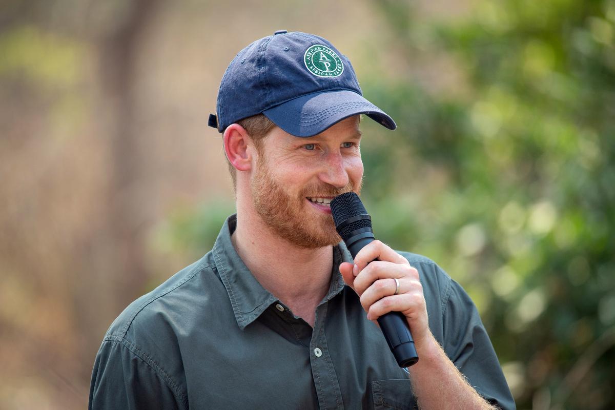 Brittanje se prins Harry besoek Malawi-gesondheidsentrum