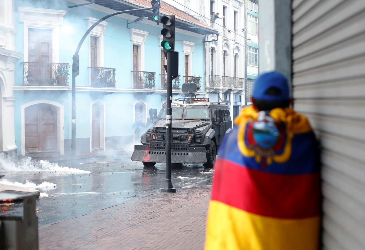 Ecuador verklaar noodtoestand omdat brandstofproteste paaie blokkeer