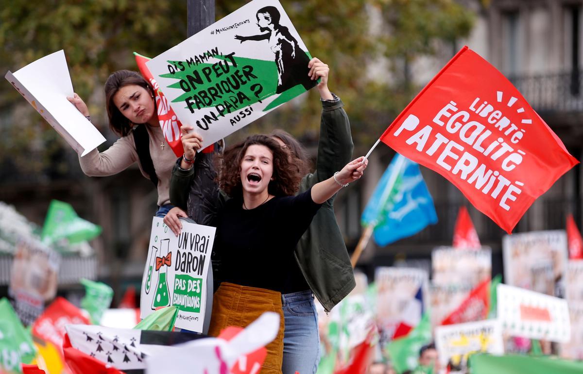 Duisende protesteer die Franse IVF-wet vreedsaam en vermy die herhaling van 2013-geweld