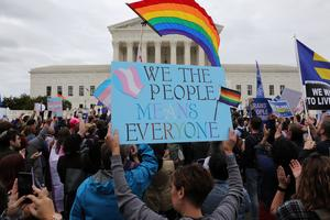 Protests as Supreme Court mulls LGBTQ employment rights
