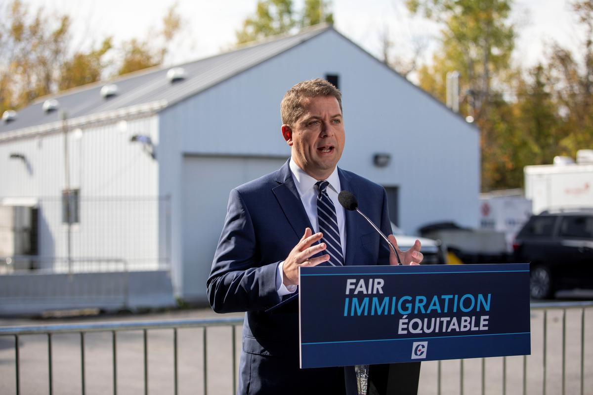 Canada's Conservatives vow to limit illegal border crossings by...