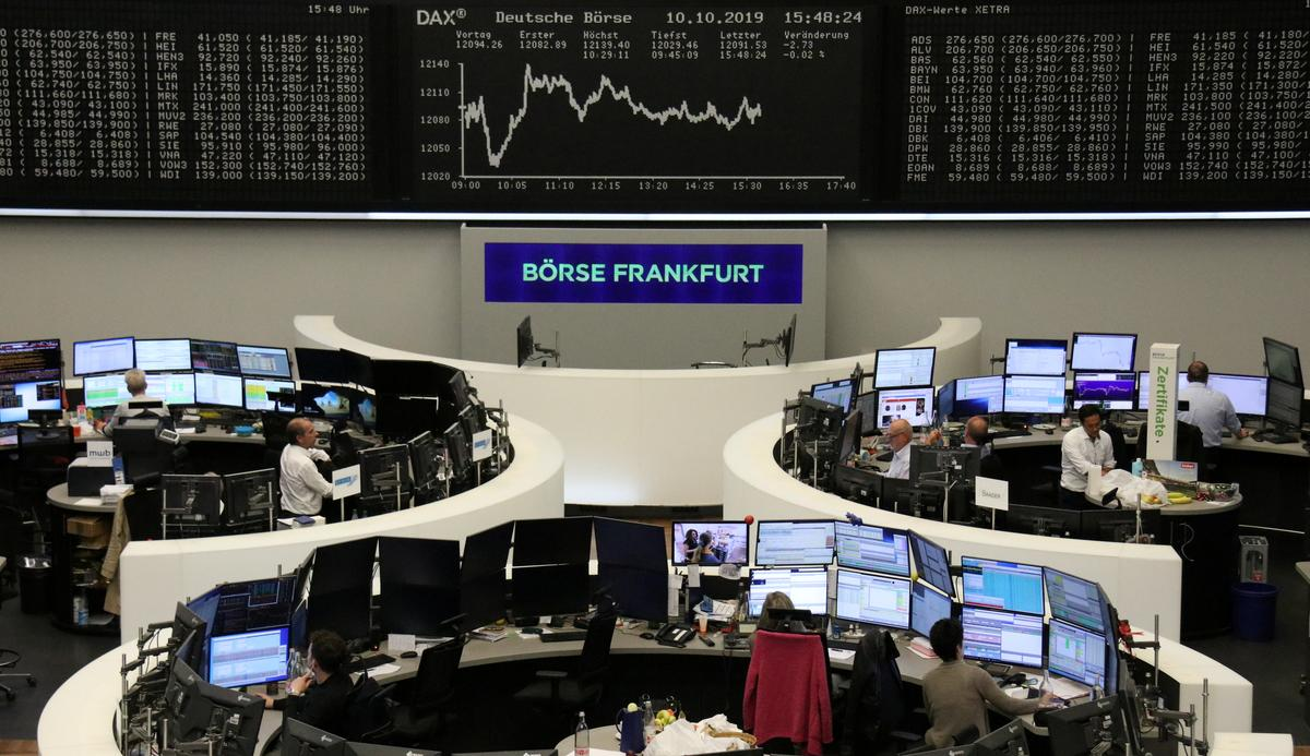 European shares soar on rising hopes of Brexit, trade deal