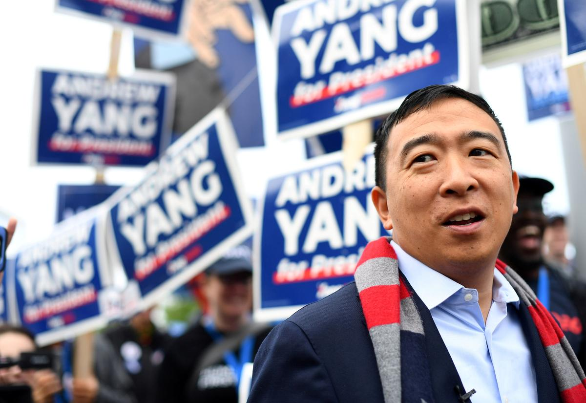 Entrepreneur Andrew Yang's quixotic U.S. presidential campaign gets serious