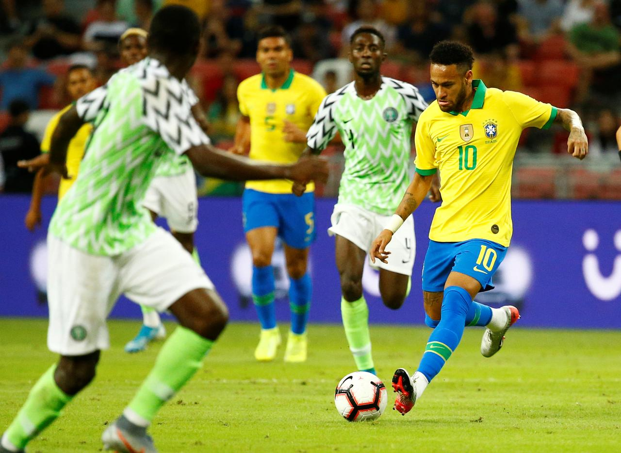 Image result for Neymar vs Nigeria