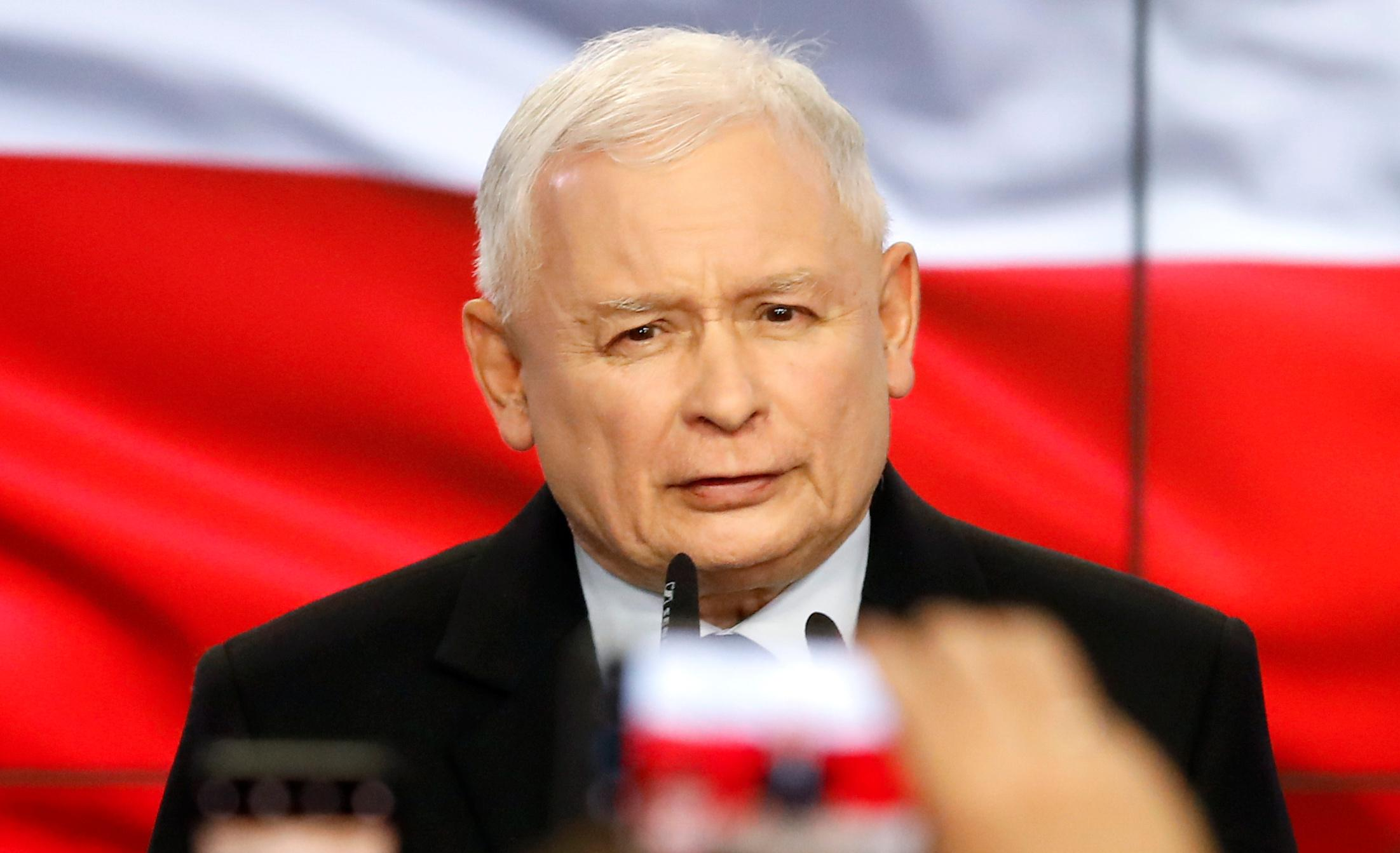 Poland's ruling party leader Kaczynski declares victory