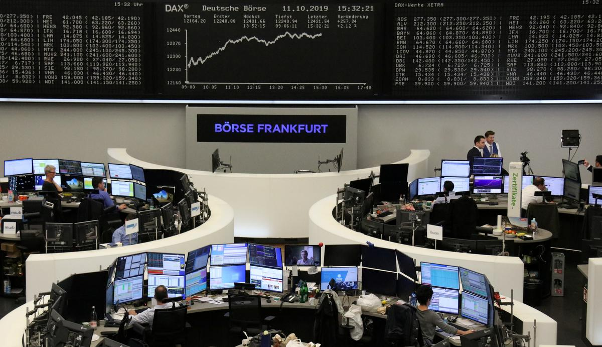 European stocks pull back following Brexit, trade-driven surge