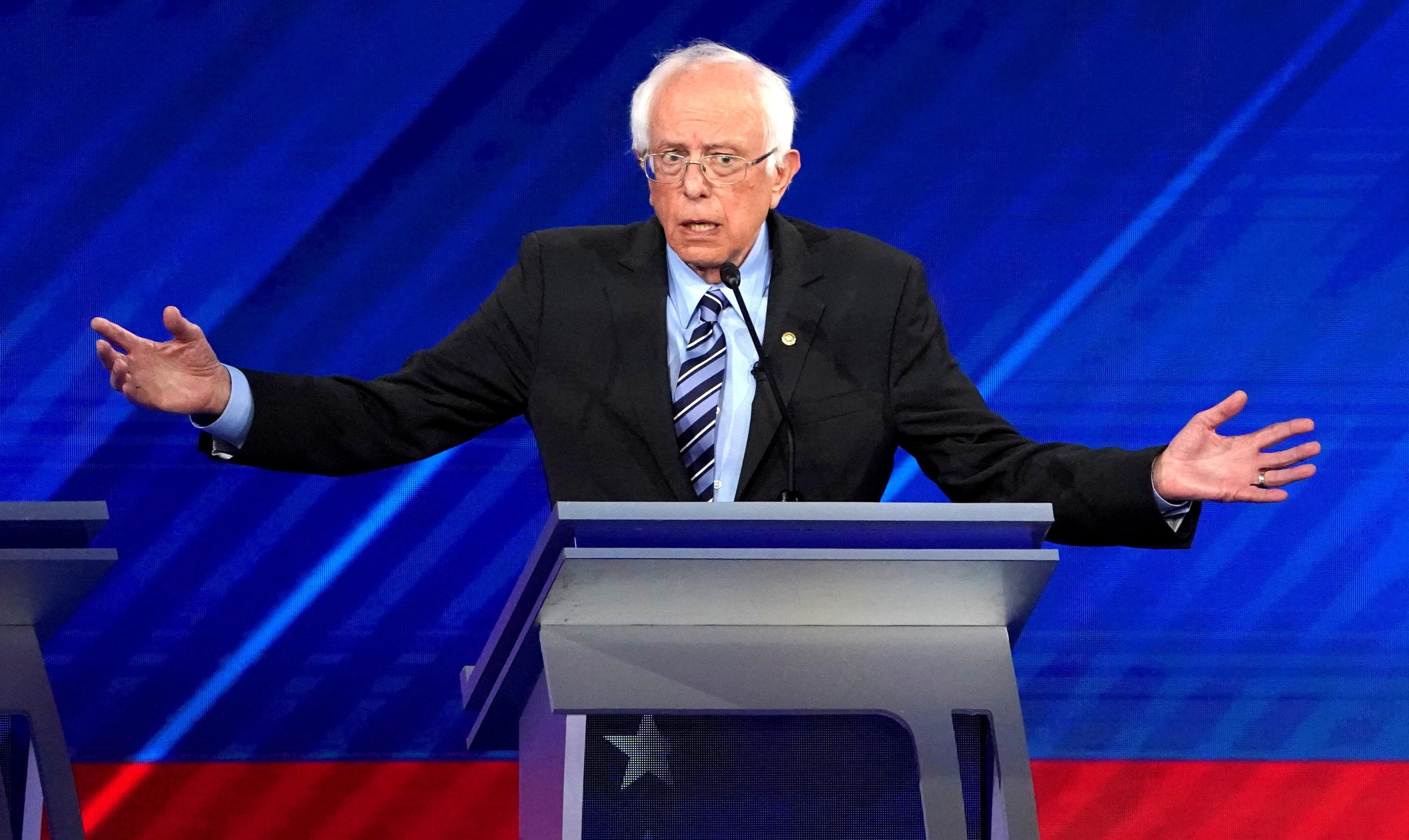 Sanders unveils economic plan a day before U.S. Democratic debate
