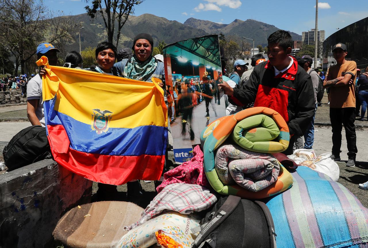Image result for Ecuador's Moreno scraps fuel subsidy cuts in big win for indigenous groups