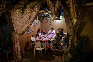 Inside an Israeli home for Sukkot