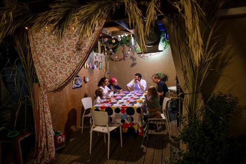 Inside an Israeli home for Sukkot