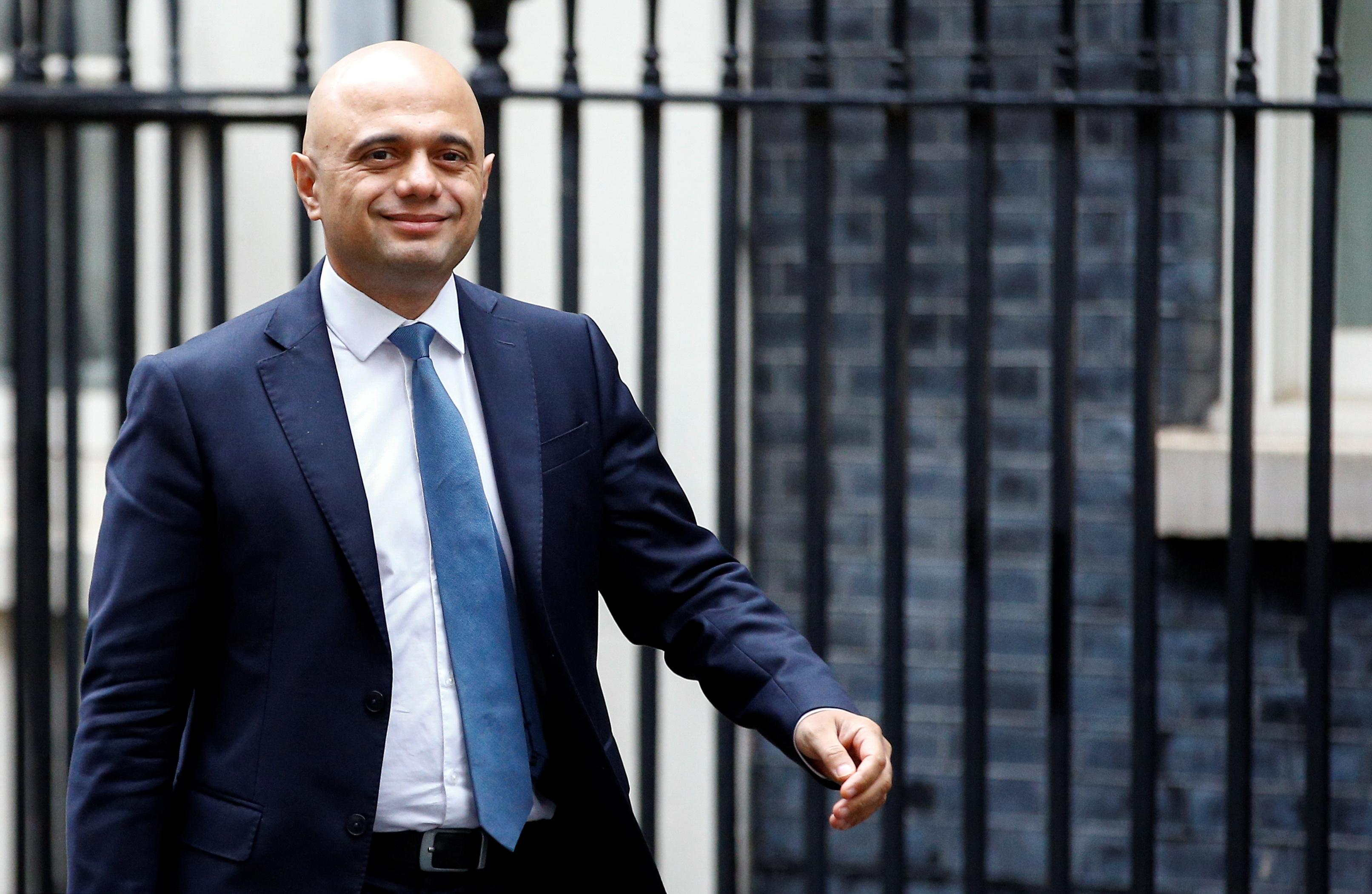 UK's Javid, eyeing investment, promises a decade of economic renewal