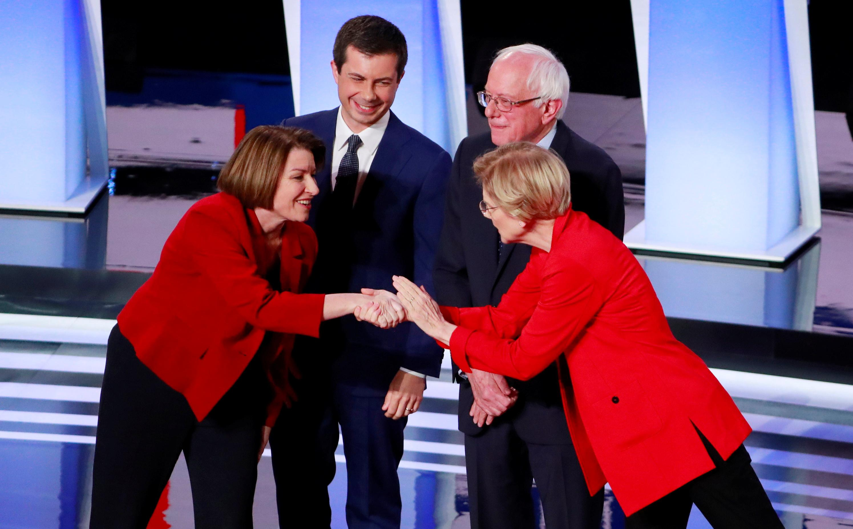 Moderate Democratic candidates' strategy shifts from taking down...