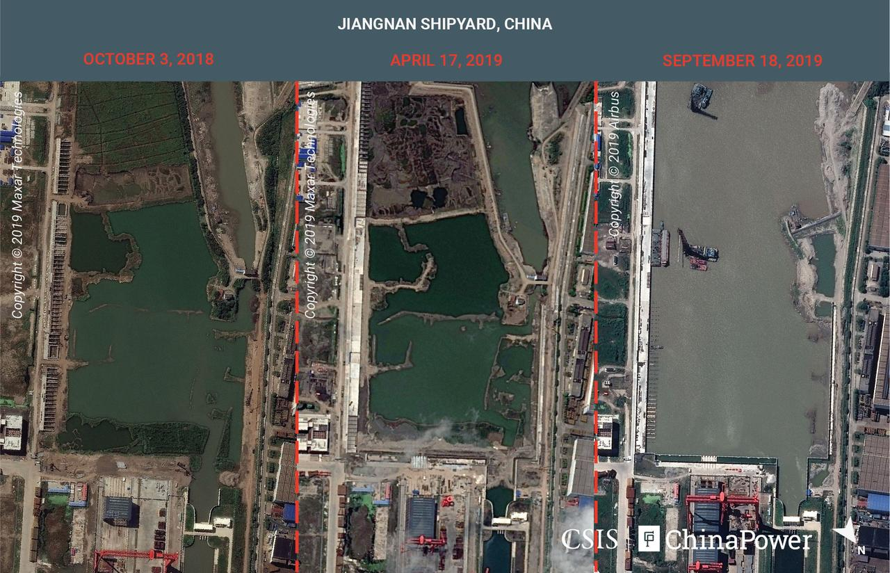 Exclusive: Satellite images reveal China\'s aircraft carrier ...