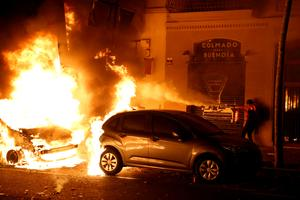 Barcelona streets ablaze as Catalan separatists protest