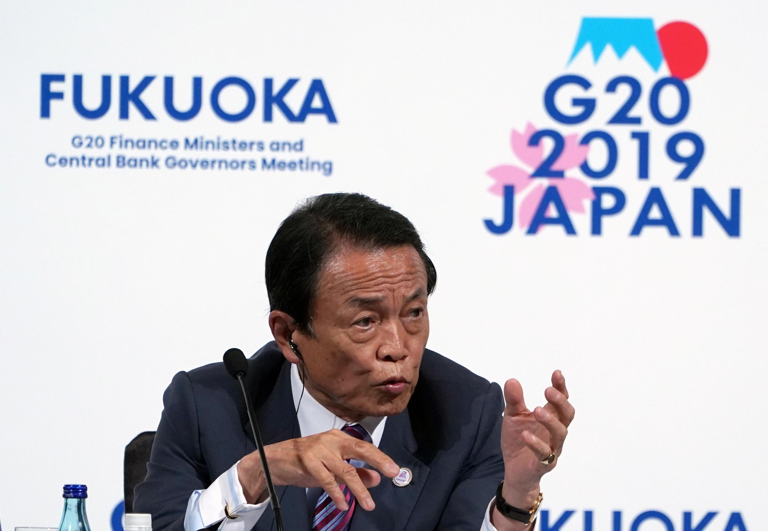 Japan finance minister Aso says ready to take fiscal steps if needed