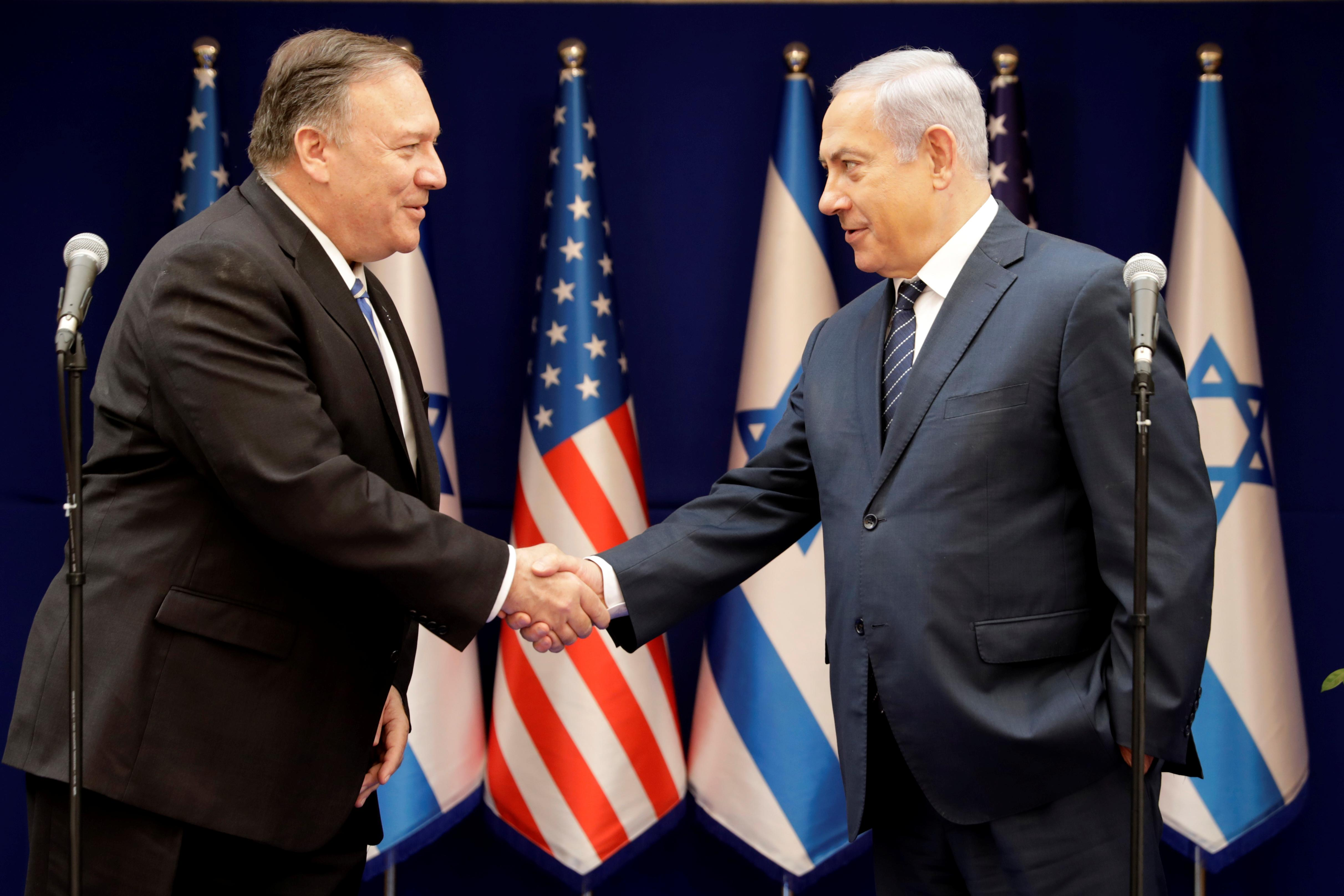 Pompeo assures Israel that U.S. focus stays on Iran 'threat'