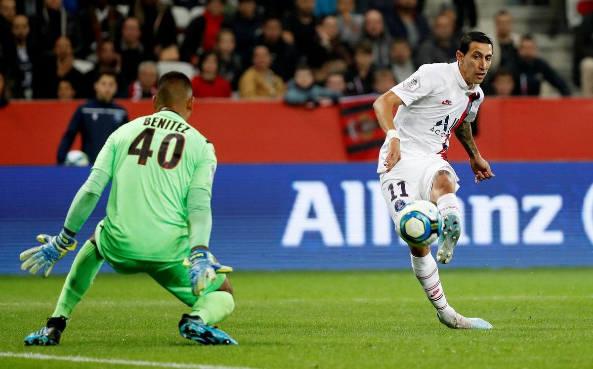Di Maria sends PSG five points clear as Nice see red