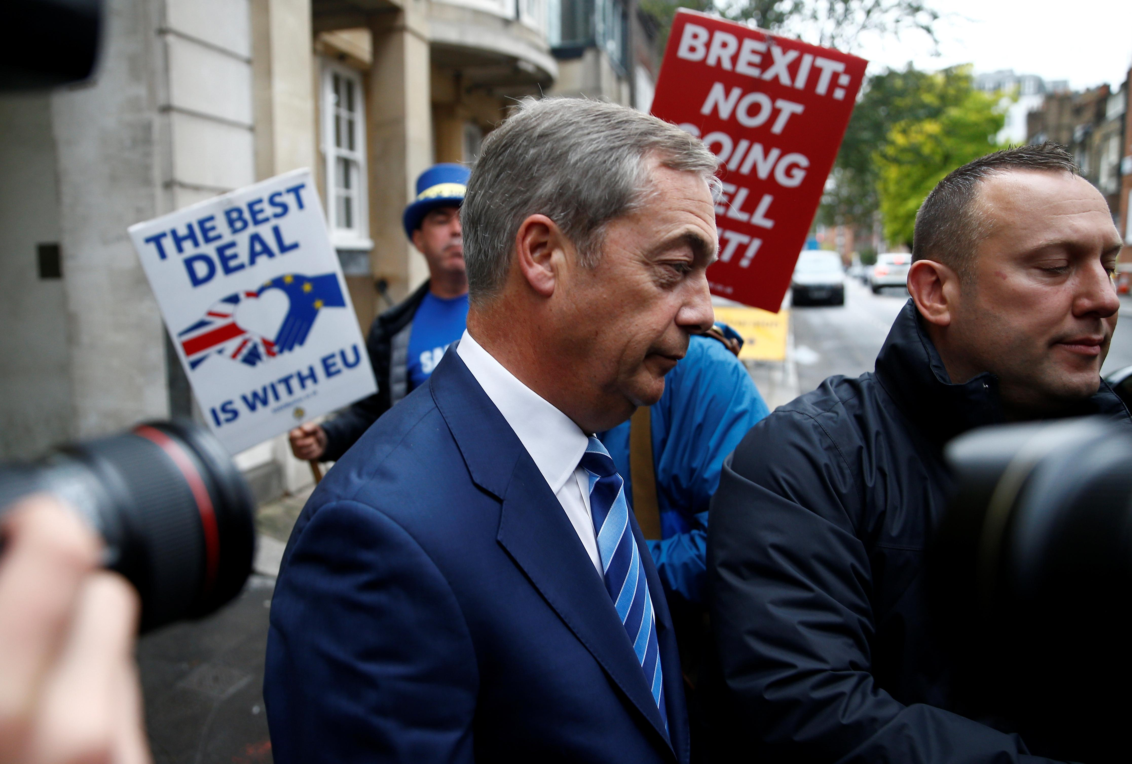 Brexit delay and election better than Johnson's deal - Farage