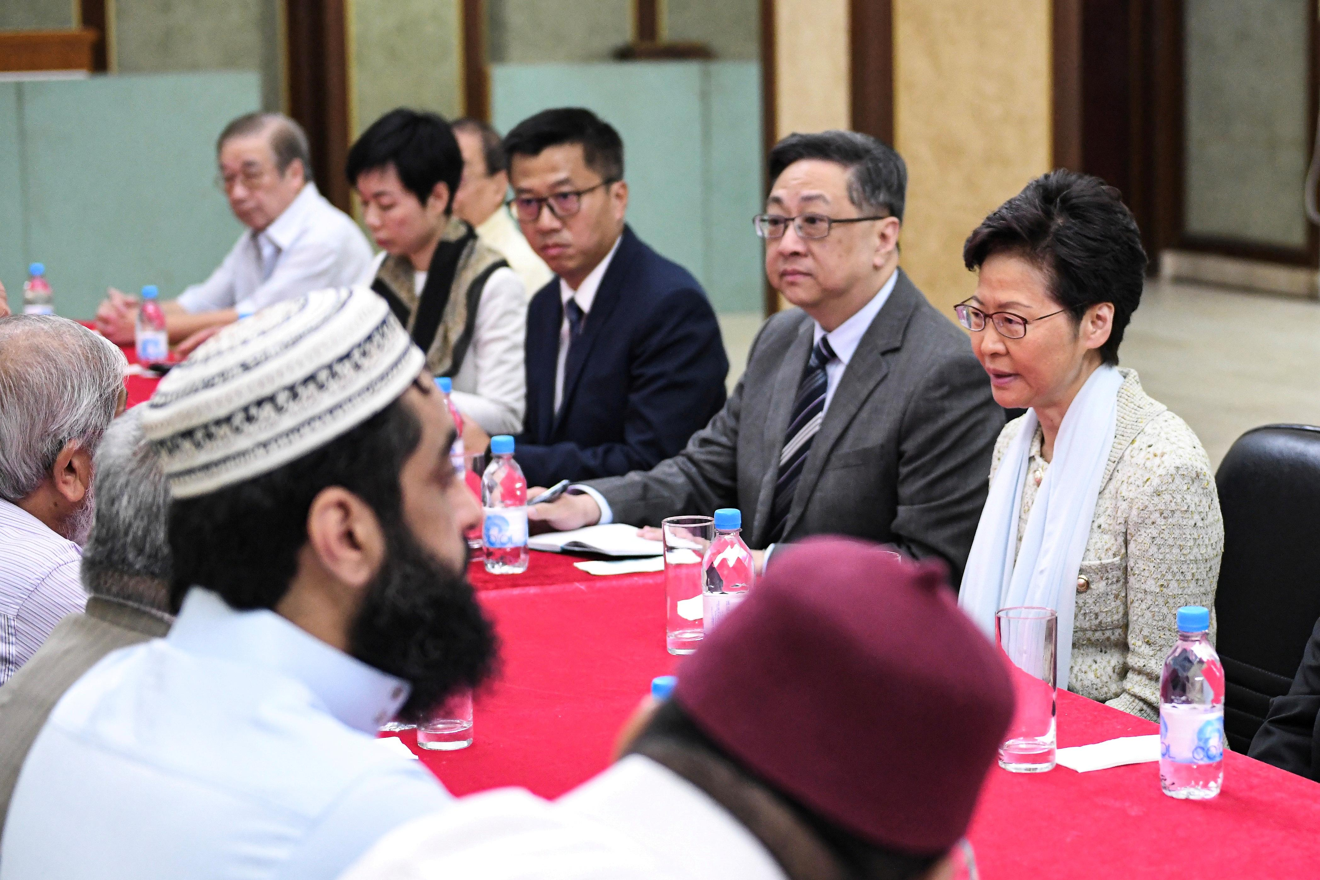 Hong Kong leader apologizes after mosque hit by police water cannon