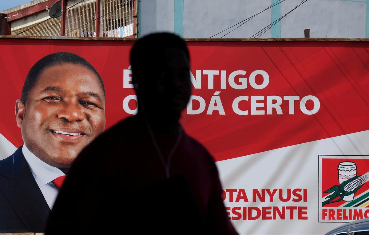 Opposition calls for Mozambicans to reject election count as Nyusi takes lead