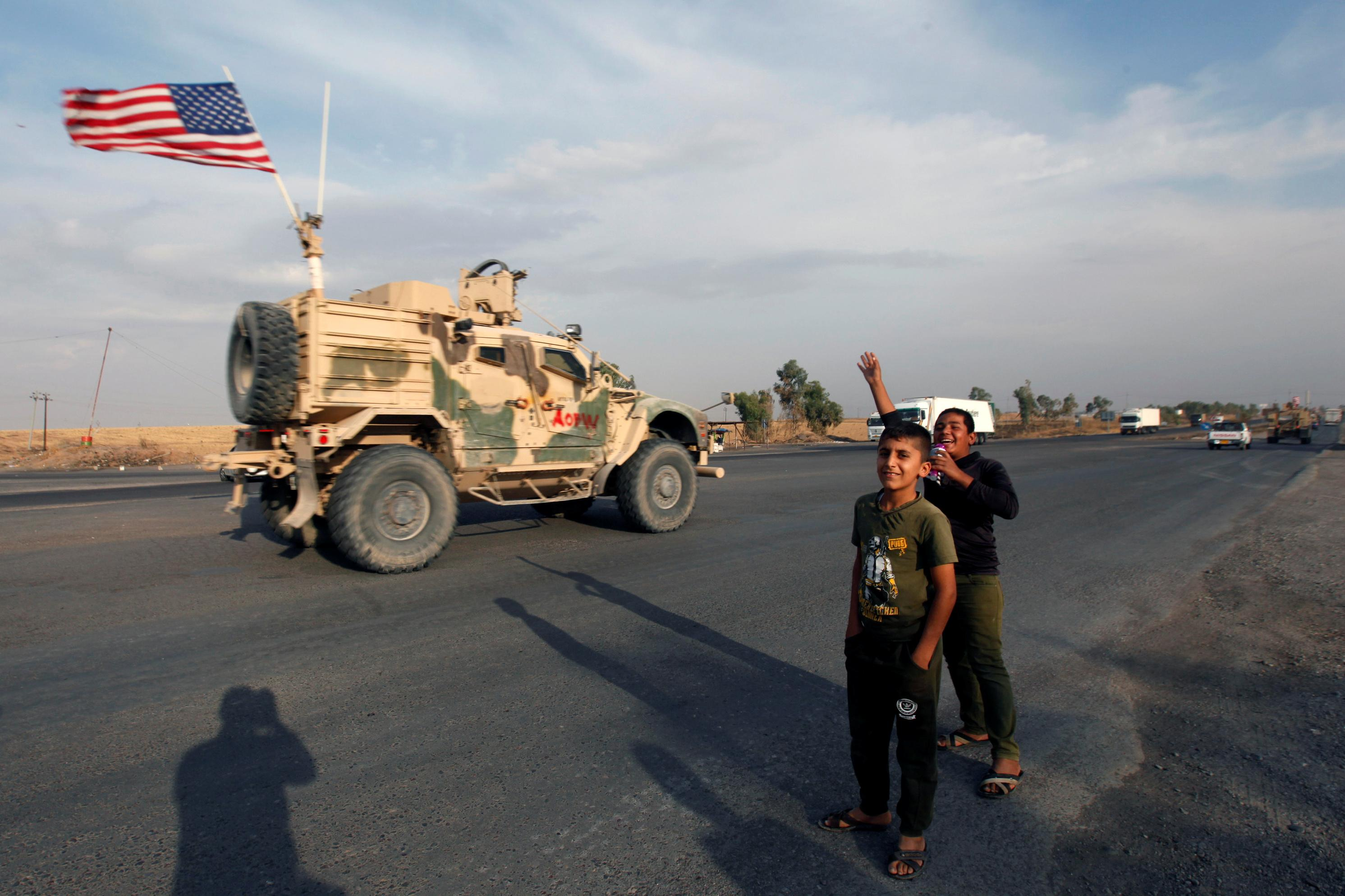 U.S. forces withdrawing from Syria into Iraq have no approval to...