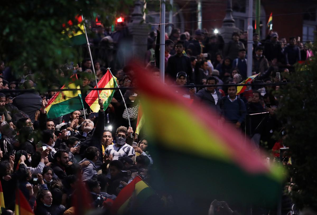 Bolivians angry over vote count storm capital as election hangs in balance