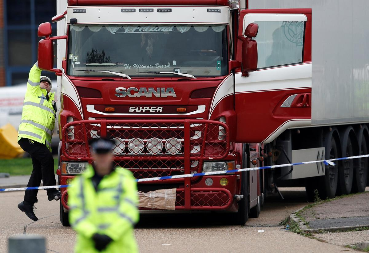 UK police say will move truck found with 39 bodies shortly