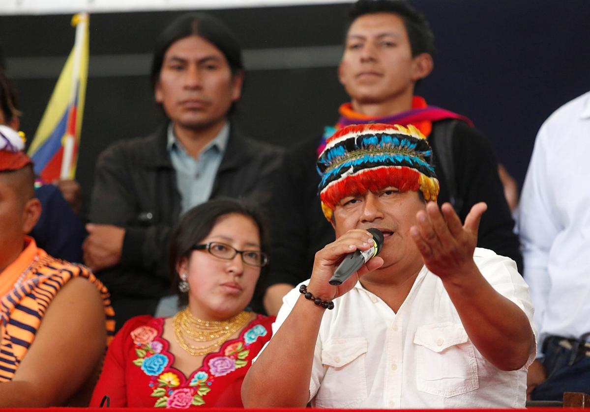 Ecuador's indigenous group says government talks on hold due to 'persecution'