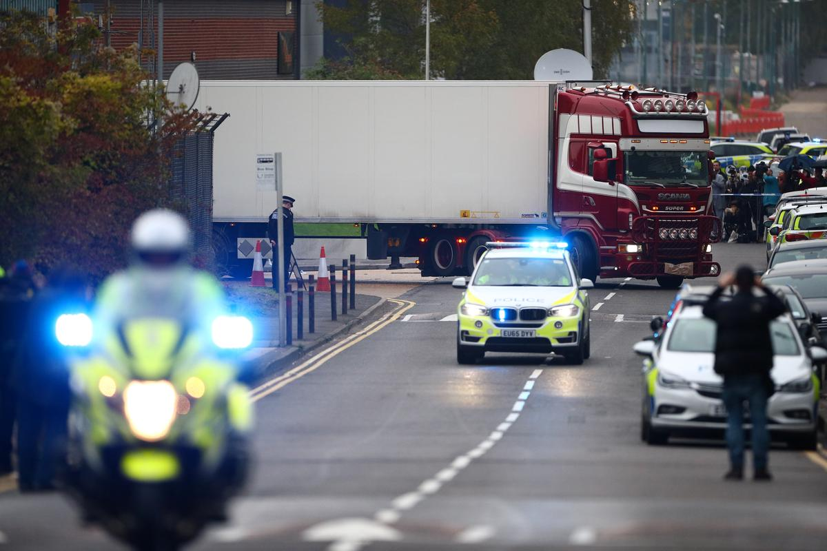 Thirty-nine victims found dead in truck near London were Chinese