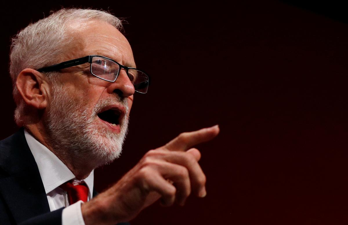 UK Labour leader Corbyn says condition for early election support has been met