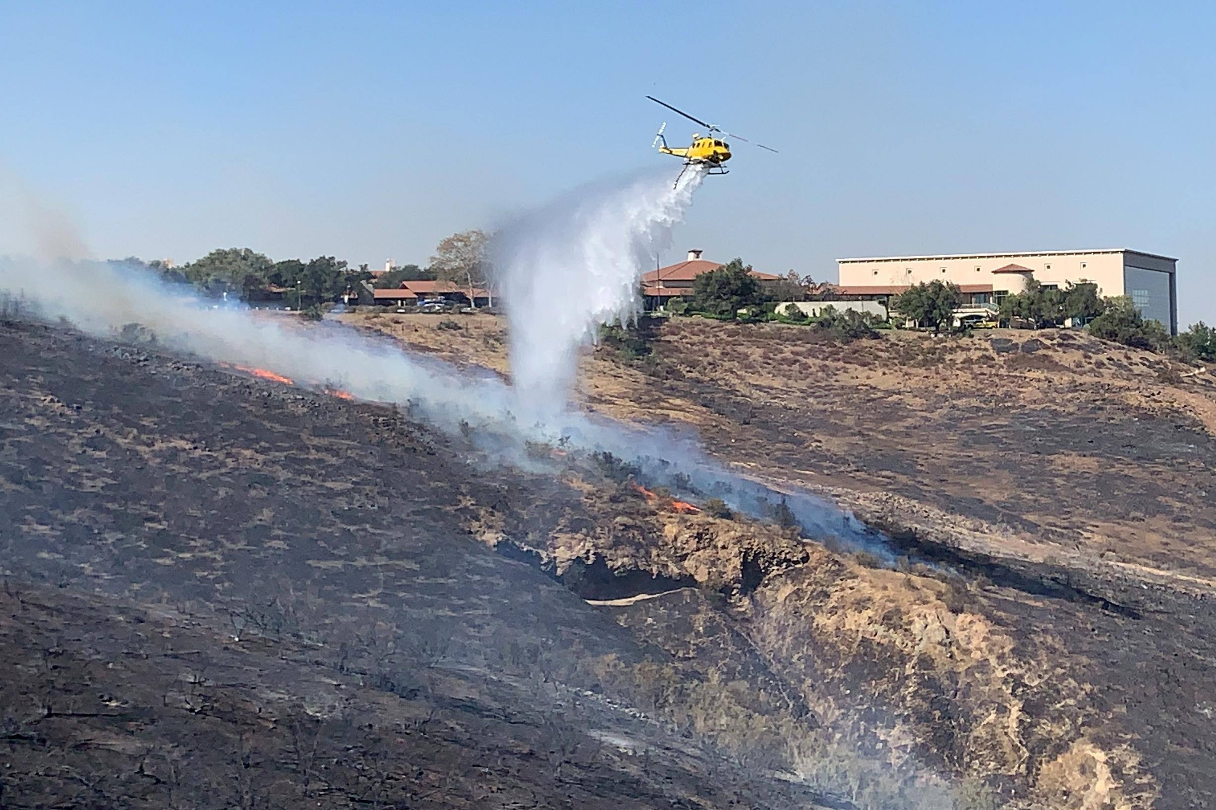 Twin Southern California wildfires menace Reagan Library, Getty...