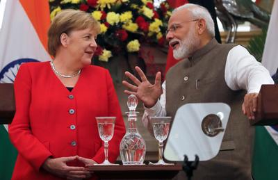 Angela Merkel in India