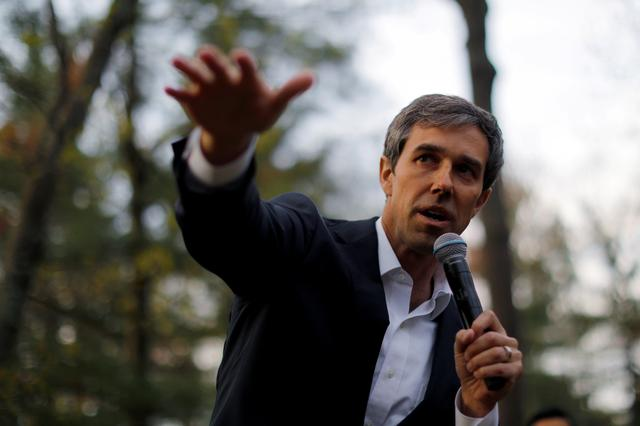 FILE PHOTO: Democratic 2020 U.S. presidential candidate and former U.S. Representative Beto O'Rourke speaks at a campaign house party in Salem, New Hampshire, U.S., May 9, 2019.   REUTERS/Brian Snyder/File Photo