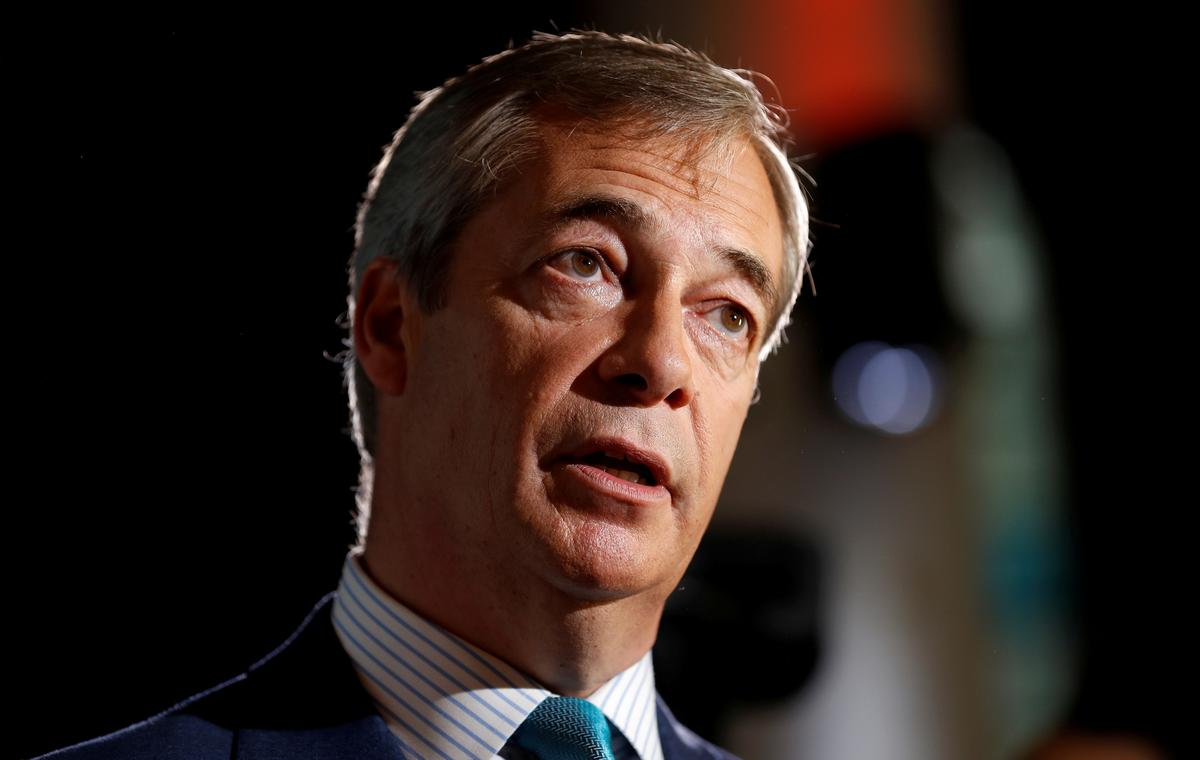 Brexit Party leader Nigel Farage will not run in UK election