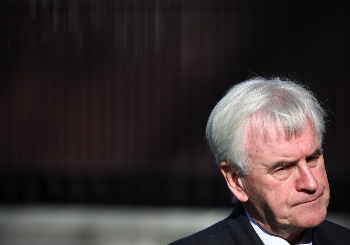 UK Labour will raise taxes on top 5% of earners, companies: McDonnell