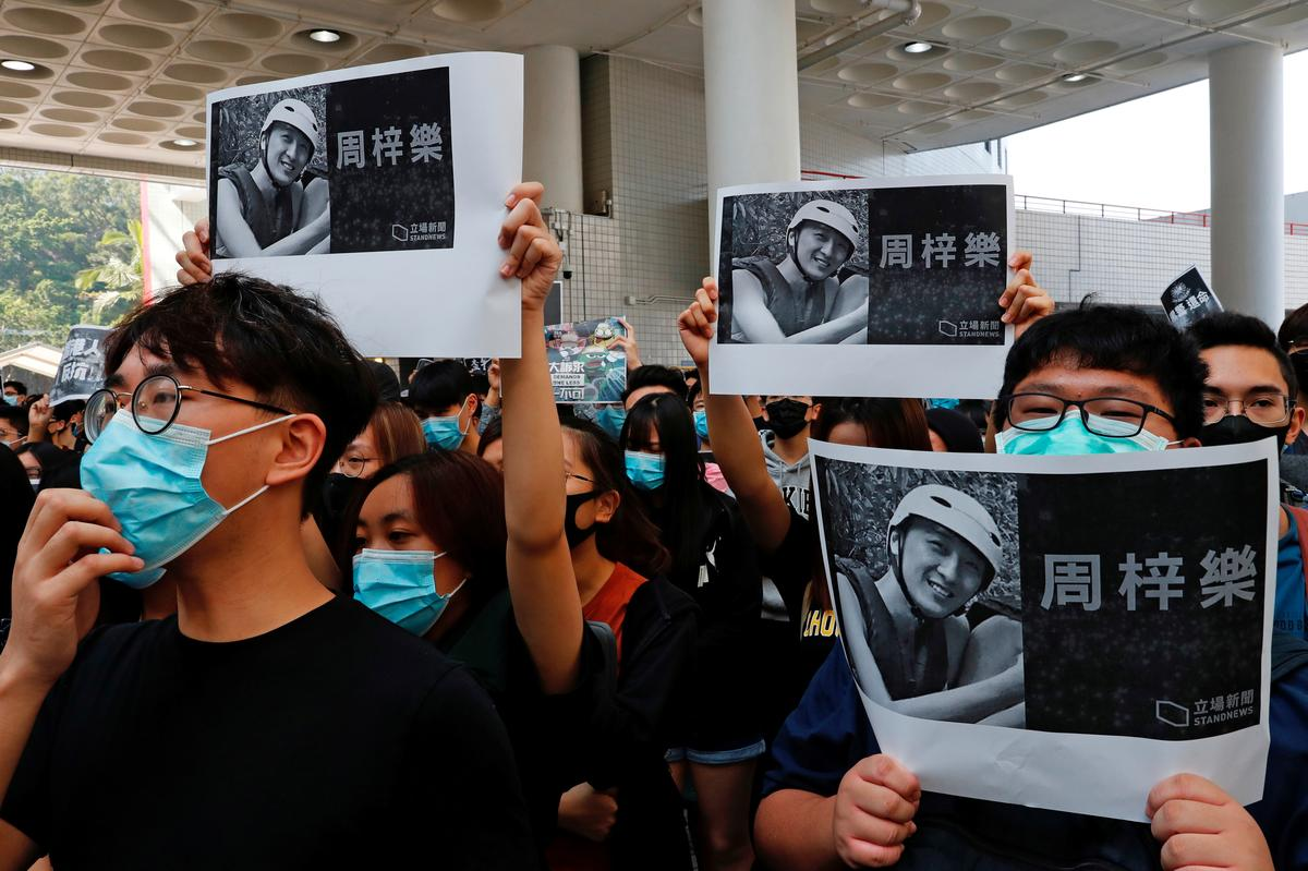Death of student during Hong Kong protests likely to trigger further unrest
