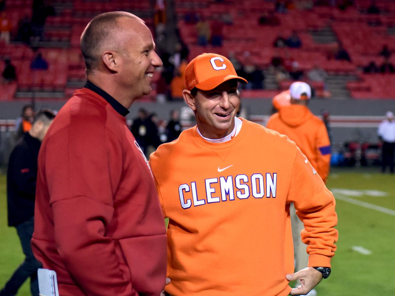 No 5 Clemson Hammers Nc State Clinches Acc Atlantic Again