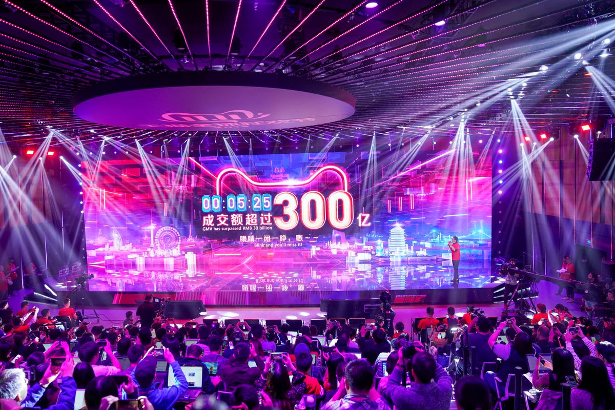 Alibaba's Singles' Day sales hit $30 billion, on track for record