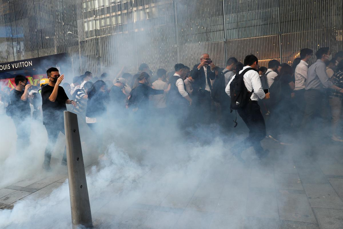 'Pam! Pam! Pam!'- Shooting of protester marks step up in Hong Kong violence