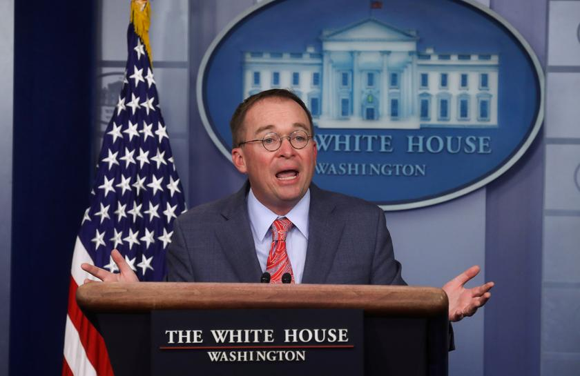 White House's Mulvaney to sue over House impeachment subpoenas